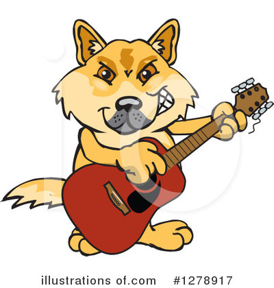 Dingo Clipart #1278917 by Dennis Holmes Designs