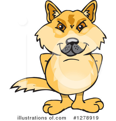 Dingo Clipart #1278919 by Dennis Holmes Designs