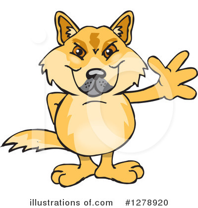 Dingo Clipart #1278920 by Dennis Holmes Designs
