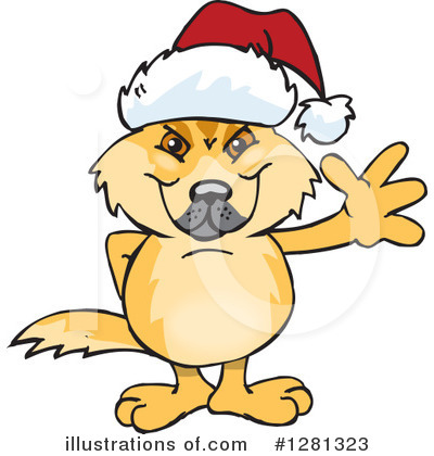 Dingo Clipart #1281323 by Dennis Holmes Designs