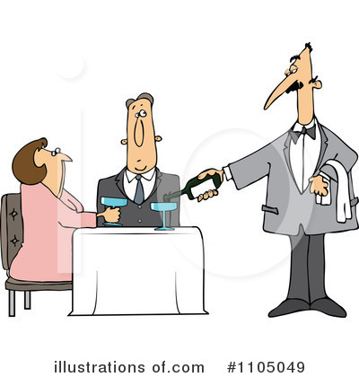 Waiter Clipart #1105049 by djart