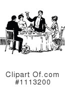 Royalty-Free (RF) Dining Clipart Illustration #1113200
