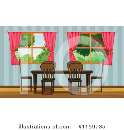 dining room clipart. royaltyfree rf dining room clipart illustration by graphics stock sample a