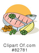 Royalty-Free (RF) dinner Clipart Illustration #82781