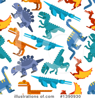 Dinosaur Clipart #1390930 by Vector Tradition SM