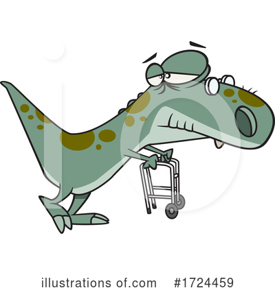 Royalty-Free (RF) Dino Clipart Illustration by toonaday - Stock Sample #1724459