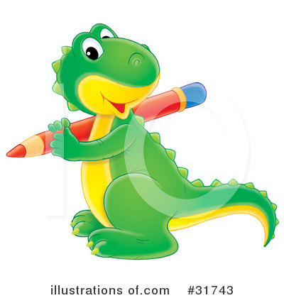 Royalty-Free (RF) Dino Clipart Illustration by Alex Bannykh - Stock Sample #31743