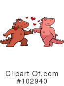 Dinosaur Clipart #102940 by Cory Thoman