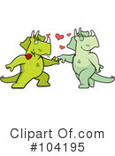 Dinosaur Clipart #104195 by Cory Thoman