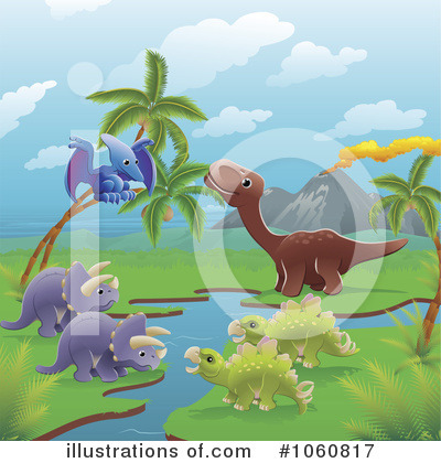Royalty-Free (RF) Dinosaur Clipart Illustration by AtStockIllustration - Stock Sample #1060817