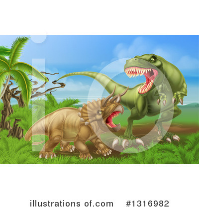 Dinosaur Clipart #1316982 by AtStockIllustration