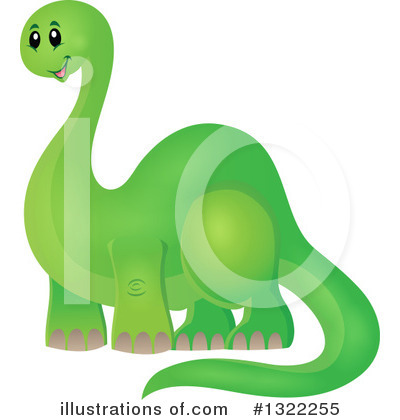 Royalty-Free (RF) Dinosaur Clipart Illustration by visekart - Stock Sample #1322255