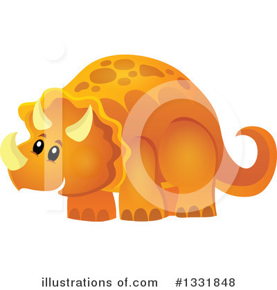 Triceratops Clipart #1331848 by visekart