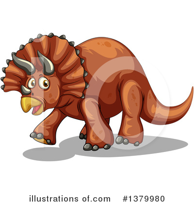 Triceratops Clipart #1379980 by Graphics RF