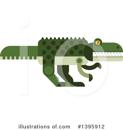 Crocodile Clipart #1395912 by Vector Tradition SM