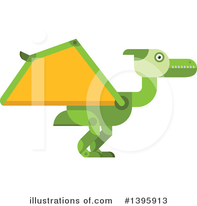 Dinosaur Clipart #1395913 by Vector Tradition SM