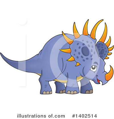 Triceratops Clipart #1402514 by visekart