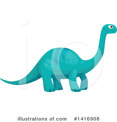 Dinosaur Clipart #1416908 by Vector Tradition SM