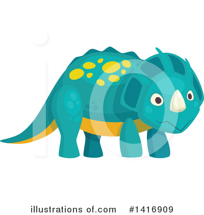 Dinosaur Clipart #1416909 by Vector Tradition SM
