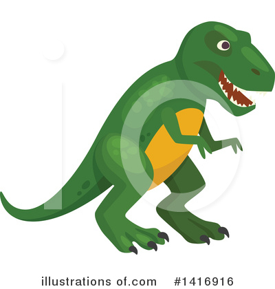 Dinosaur Clipart #1416916 by Vector Tradition SM