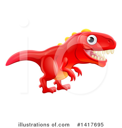 Dinosaur Clipart #1417695 by AtStockIllustration