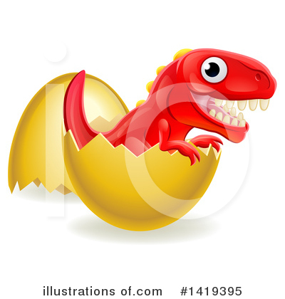 Dinosaur Clipart #1419395 by AtStockIllustration