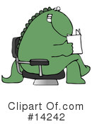 Royalty-Free (RF) Dinosaur Clipart Illustration #14242