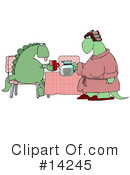 Royalty-Free (RF) Dinosaur Clipart Illustration #14245