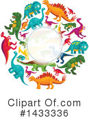 Dinosaur Clipart #1433336 by Vector Tradition SM