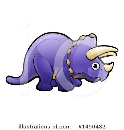 Triceratops Clipart #1450432 by AtStockIllustration