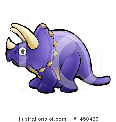 Triceratops Clipart #1450433 by AtStockIllustration