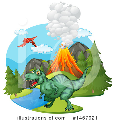 Volcano Clipart #1467921 by Graphics RF