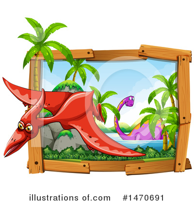 Royalty-Free (RF) Dinosaur Clipart Illustration by Graphics RF - Stock Sample #1470691