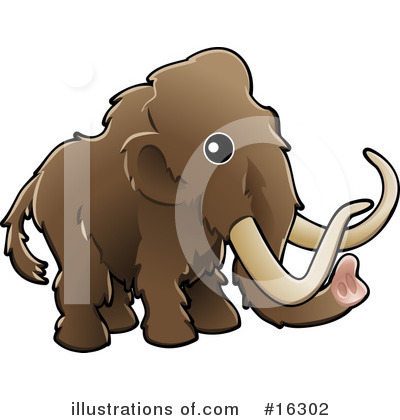 Woolly Mammoth Clipart #16302 by AtStockIllustration