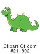 Royalty-Free (RF) Dinosaur Clipart Illustration #211802