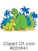 Royalty-Free (RF) Dinosaur Clipart Illustration #220641