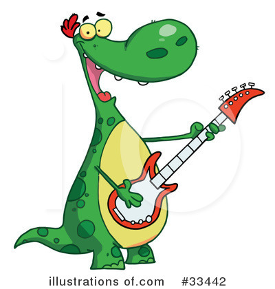 Royalty-Free (RF) Dinosaur Clipart Illustration by Hit Toon - Stock Sample #33442