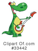 Royalty-Free (RF) Dinosaur Clipart Illustration #33442