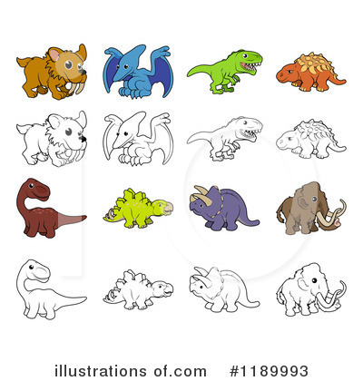 Triceratops Clipart #1189993 by AtStockIllustration