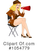 Royalty-Free (RF) director Clipart Illustration #1054779