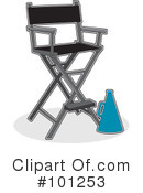 Royalty-Free (RF) Directors Chair Clipart Illustration #101253