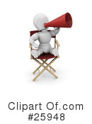 Royalty-Free (RF) Directors Chair Clipart Illustration #25948