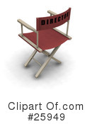 Royalty-Free (RF) Directors Chair Clipart Illustration #25949