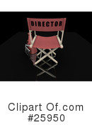 Royalty-Free (RF) Directors Chair Clipart Illustration #25950