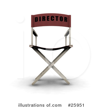 Directors Chair Clipart #25951 by KJ Pargeter