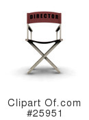 Royalty-Free (RF) Directors Chair Clipart Illustration #25951