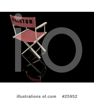 Directors Chair Clipart #25952 by KJ Pargeter