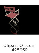Royalty-Free (RF) Directors Chair Clipart Illustration #25952