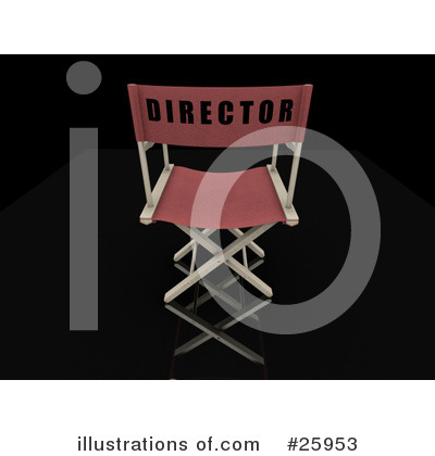 Royalty-Free (RF) Directors Chair Clipart Illustration by KJ Pargeter - Stock Sample #25953