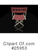 Royalty-Free (RF) Directors Chair Clipart Illustration #25953